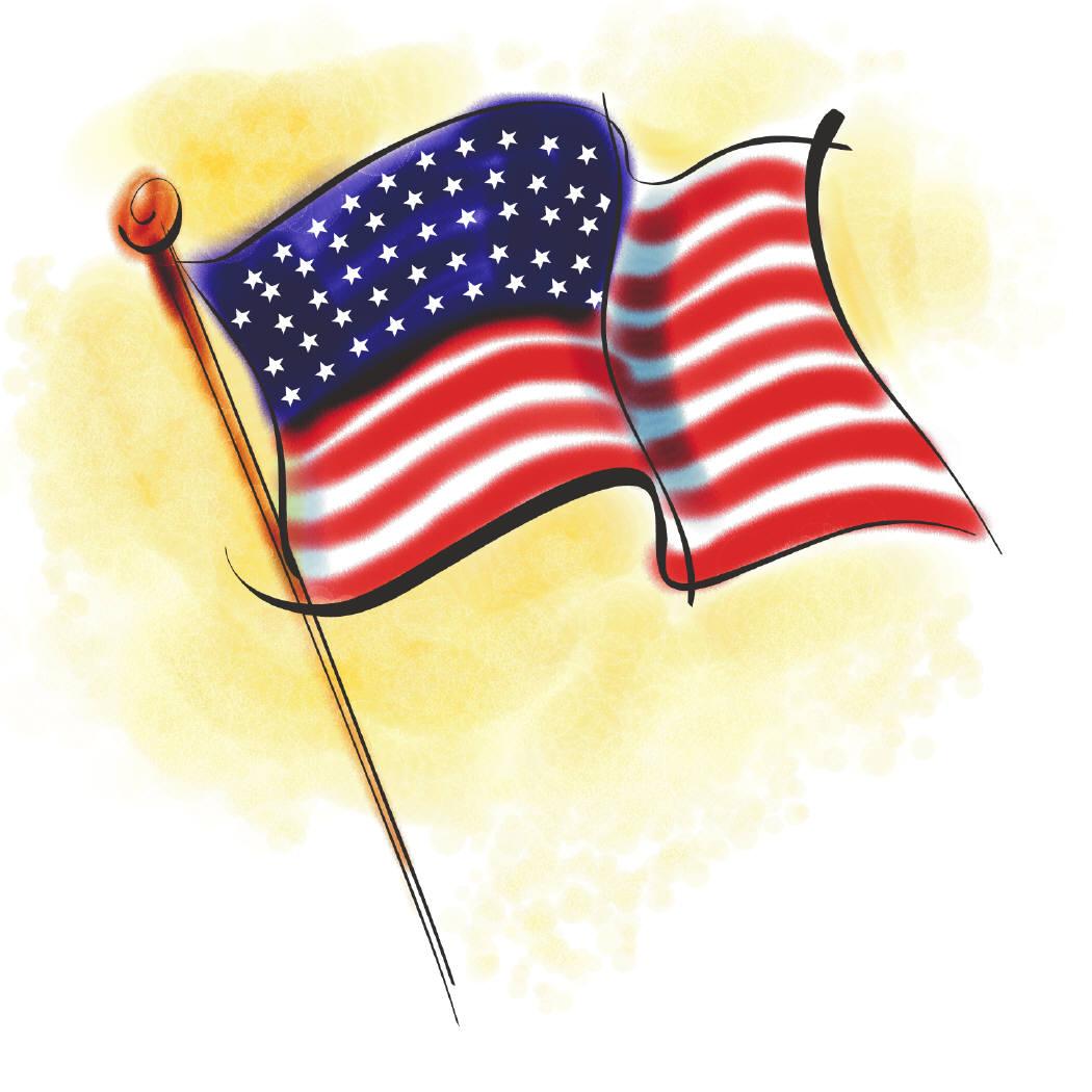 Clip art us flag clip art freeuse stock United States American Flag Clipart - Clipart Kid clip art freeuse stock