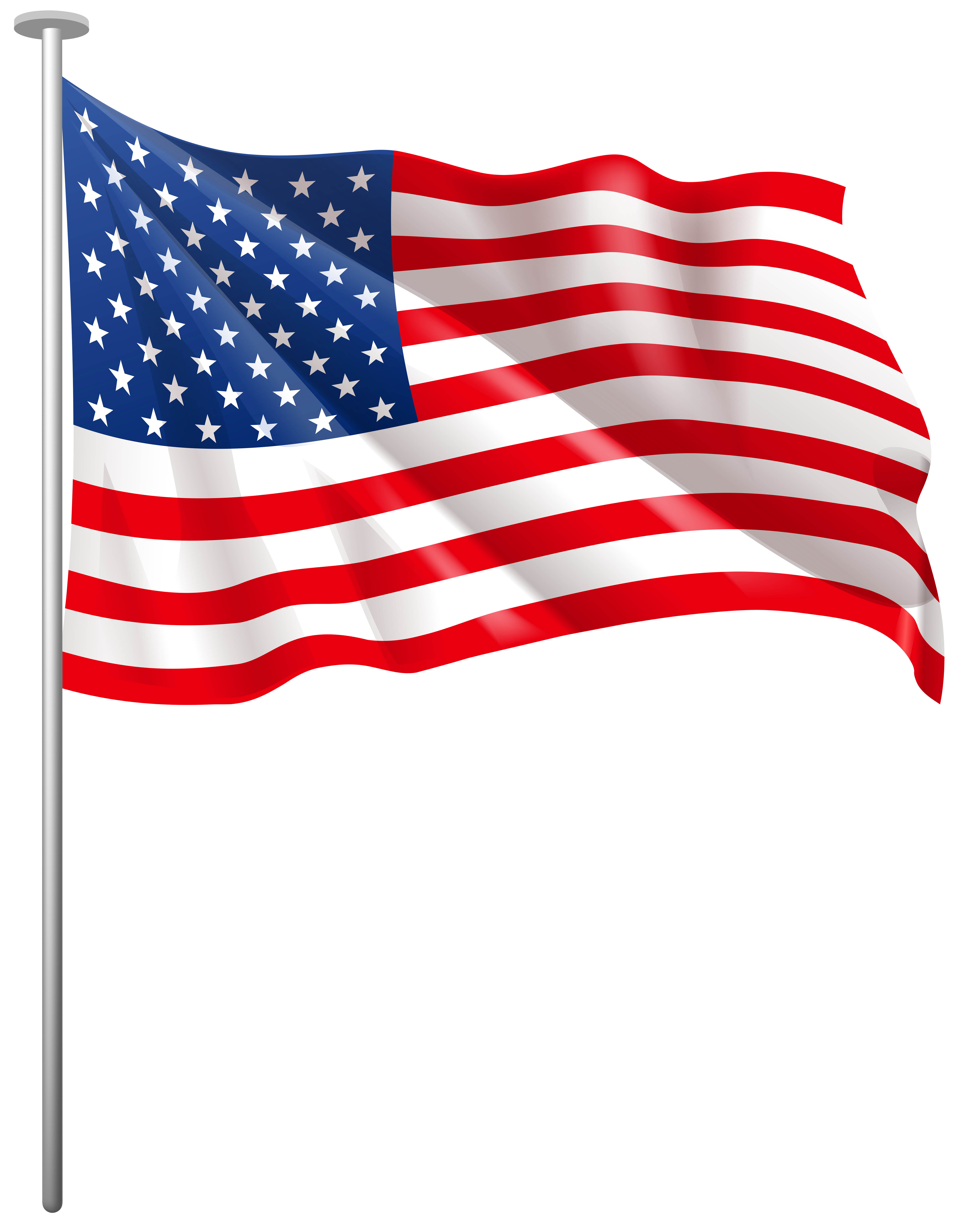 United states of america flag clipart png transparent USA Waving Flag PNG Clip Art Image | Gallery Yopriceville - High ... png transparent