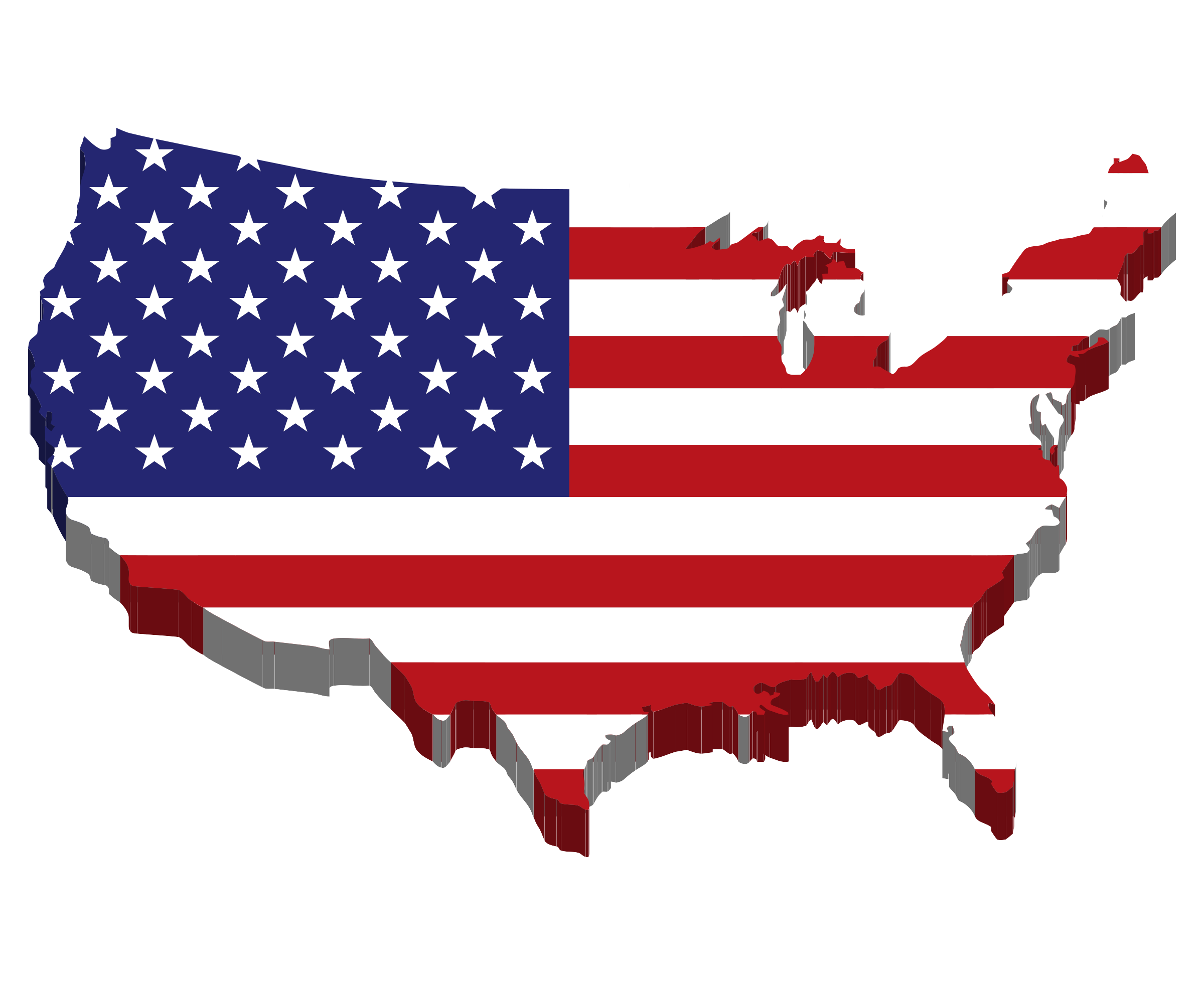 Us map clip art picture stock Clipart - America Map Flag picture stock