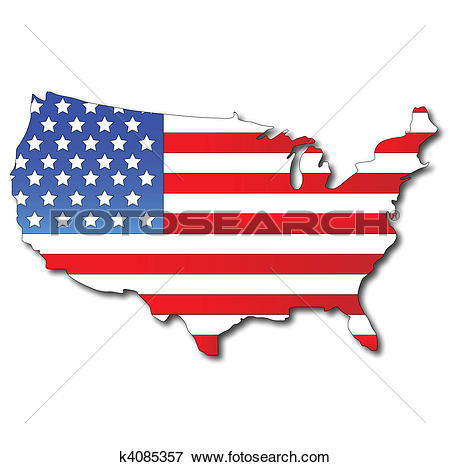 Clip art us map image download Clip Art of American flag on a USA map k4085357 - Search Clipart ... image download