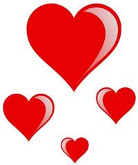Clip art valentine hearts graphic freeuse Small valentine heart clipart - ClipartFest graphic freeuse