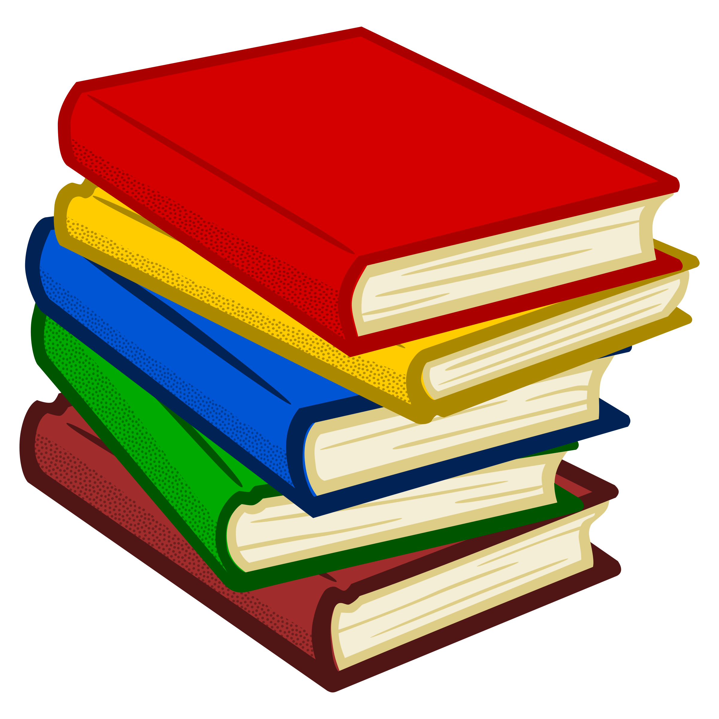Book collection clipart picture library download Clipart - books - coloured picture library download