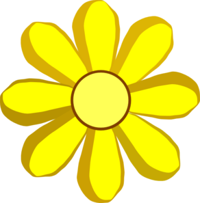 Clip art yellow flowers clip royalty free stock Yellow Flower Clipart - Clipart Kid clip royalty free stock
