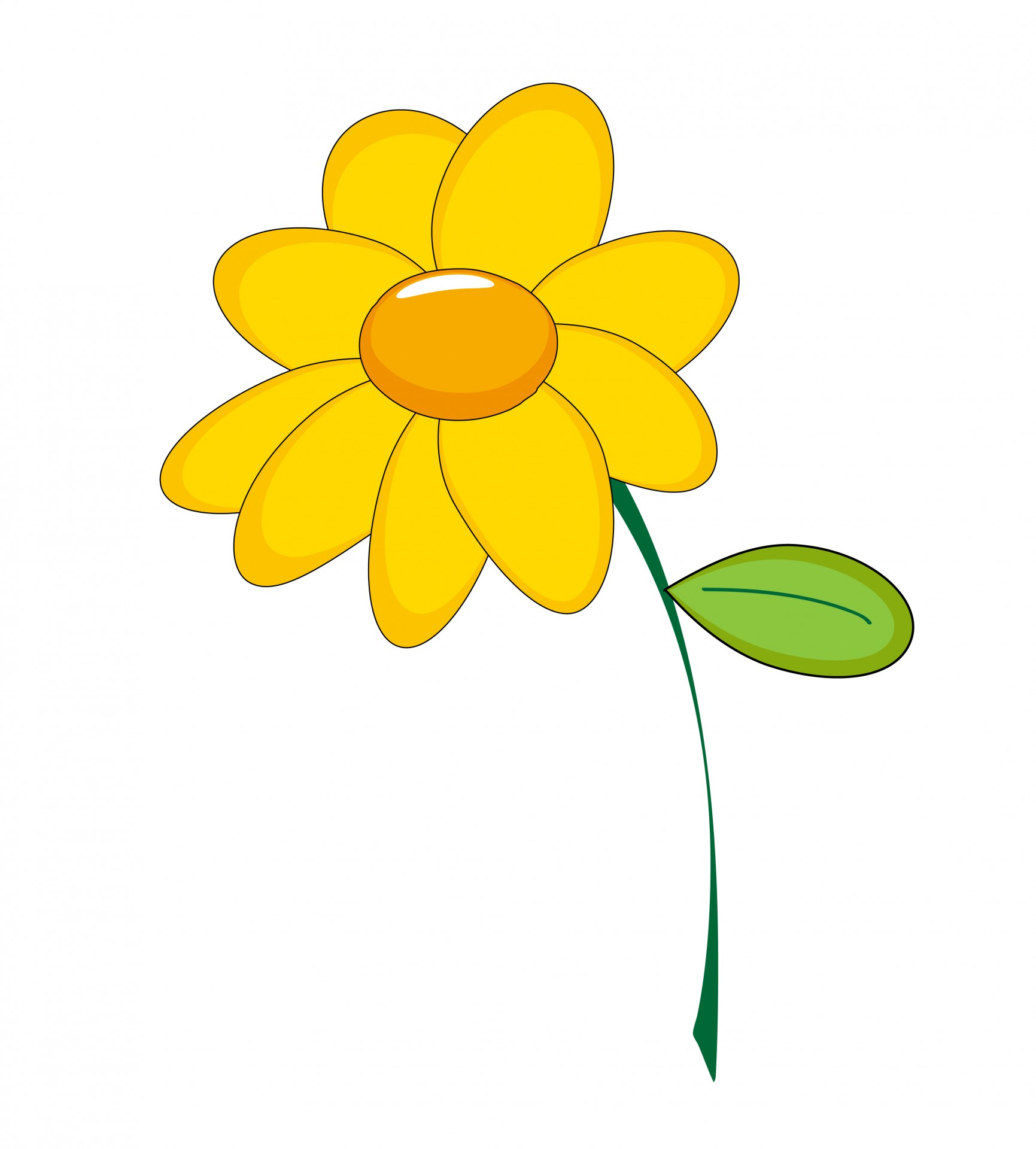 Clip art yellow flowers png freeuse stock Yellow Flower Clipart Free Stock Photo - Public Domain Pictures png freeuse stock