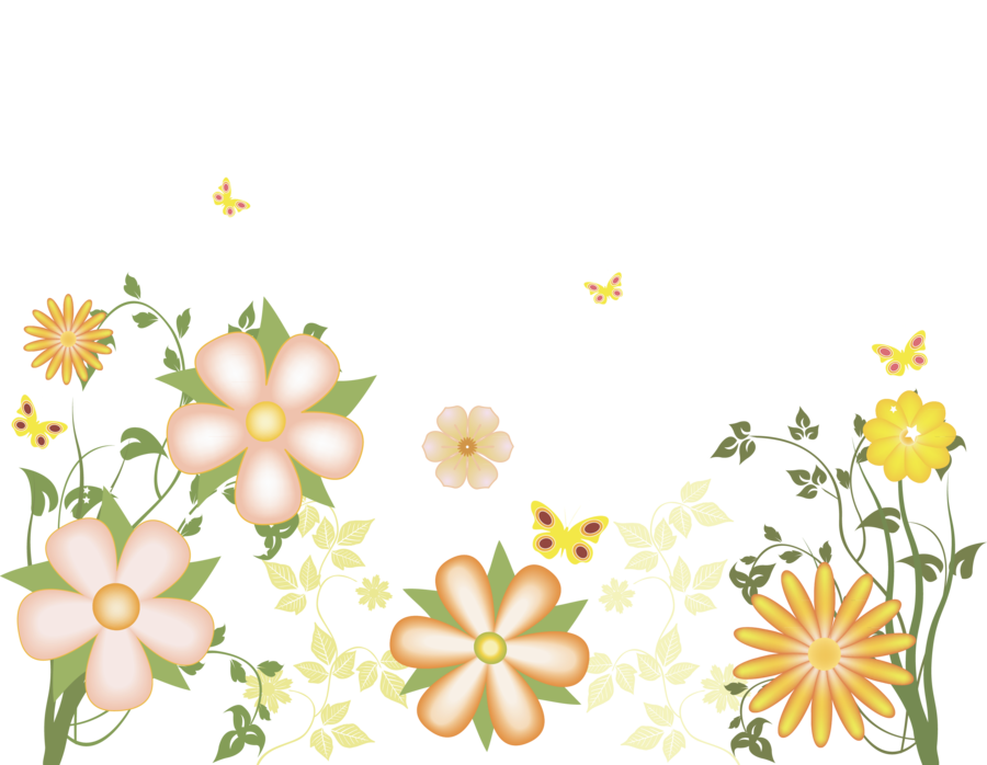 Free floral clipart images clip black and white stock Yellow_Flowers_Free_Transparent_Clipart.png?m=1367618400 clip black and white stock