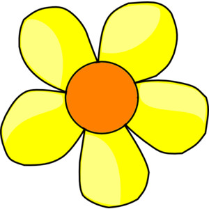 Clip art yellow flowers clip art black and white library Clipart yellow flowers - ClipartFest clip art black and white library