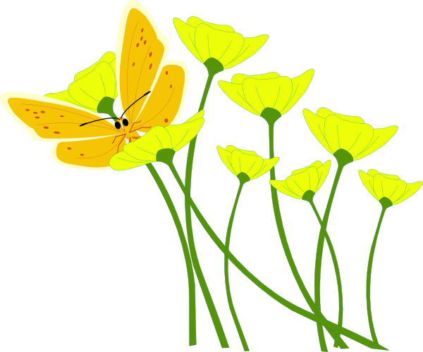Clip art yellow flowers image library download Yellow Flower Clipart - Clipart Kid image library download