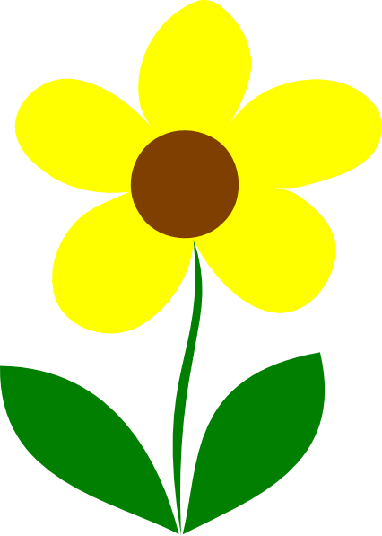 Clip art yellow flowers banner black and white library Yellow Flower Clipart - Clipart Kid banner black and white library