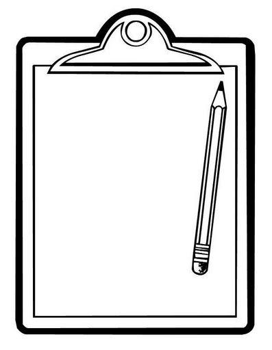 Clip board and pencil clipart clip black and white Clipboard and pencil | Templates | Page borders, Borders, frames ... clip black and white