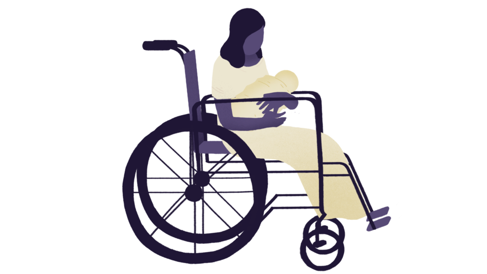 Clipart 0f women in wheelchair seeing herself dancing in mirror png Imprisoned: Raising my baby behind bars png