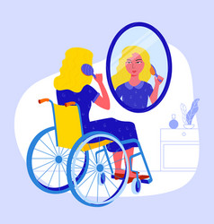 Clipart 0f women in wheelchair seeing herself dancing in mirror png black and white download Women Look at Mirror Vector Images (77) png black and white download