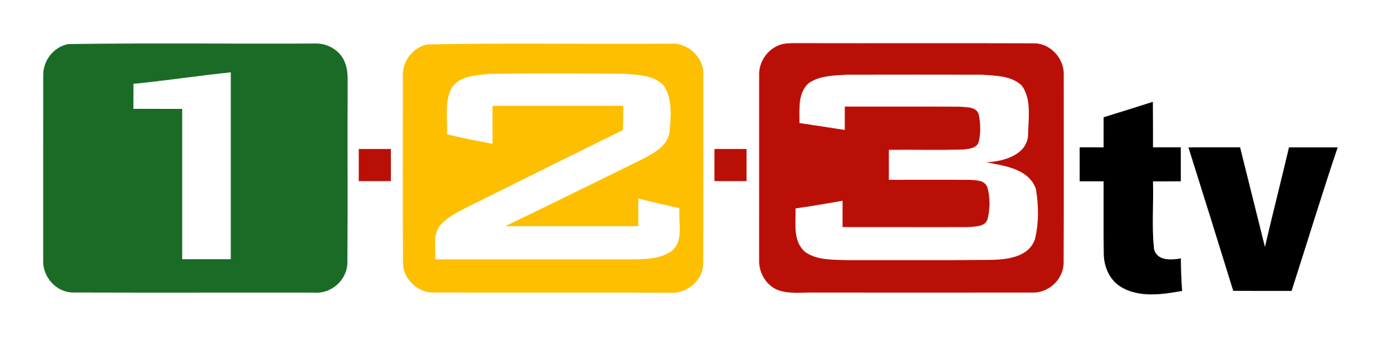 Clipart 1 2 3 jpg library library File:1-2-3-tv Logo.svg - Wikimedia Commons jpg library library