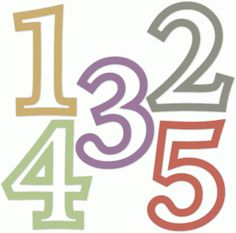 Number template getting crafty. Clipart 1 2 3 4