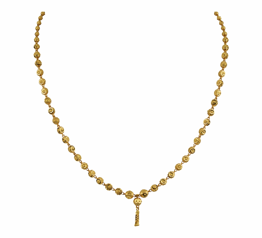Clipart 1 gram mangalsutra clip For A Change, A Beaded Slender Gold Chain By Orra - 1 Tola Gold ... clip