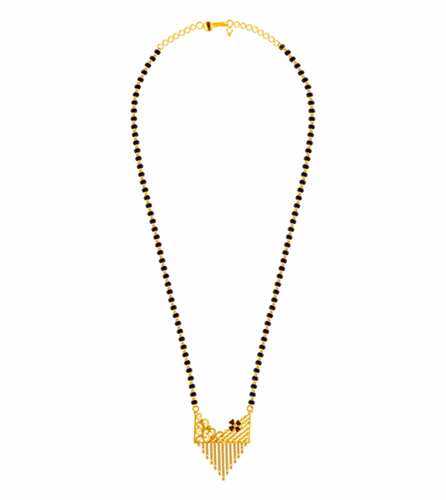 Clipart mangalsutra chain png black and white stock 22k Yellow Gold Mangalsutra - Anjali Jewellers Mangalsutra With ... png black and white stock