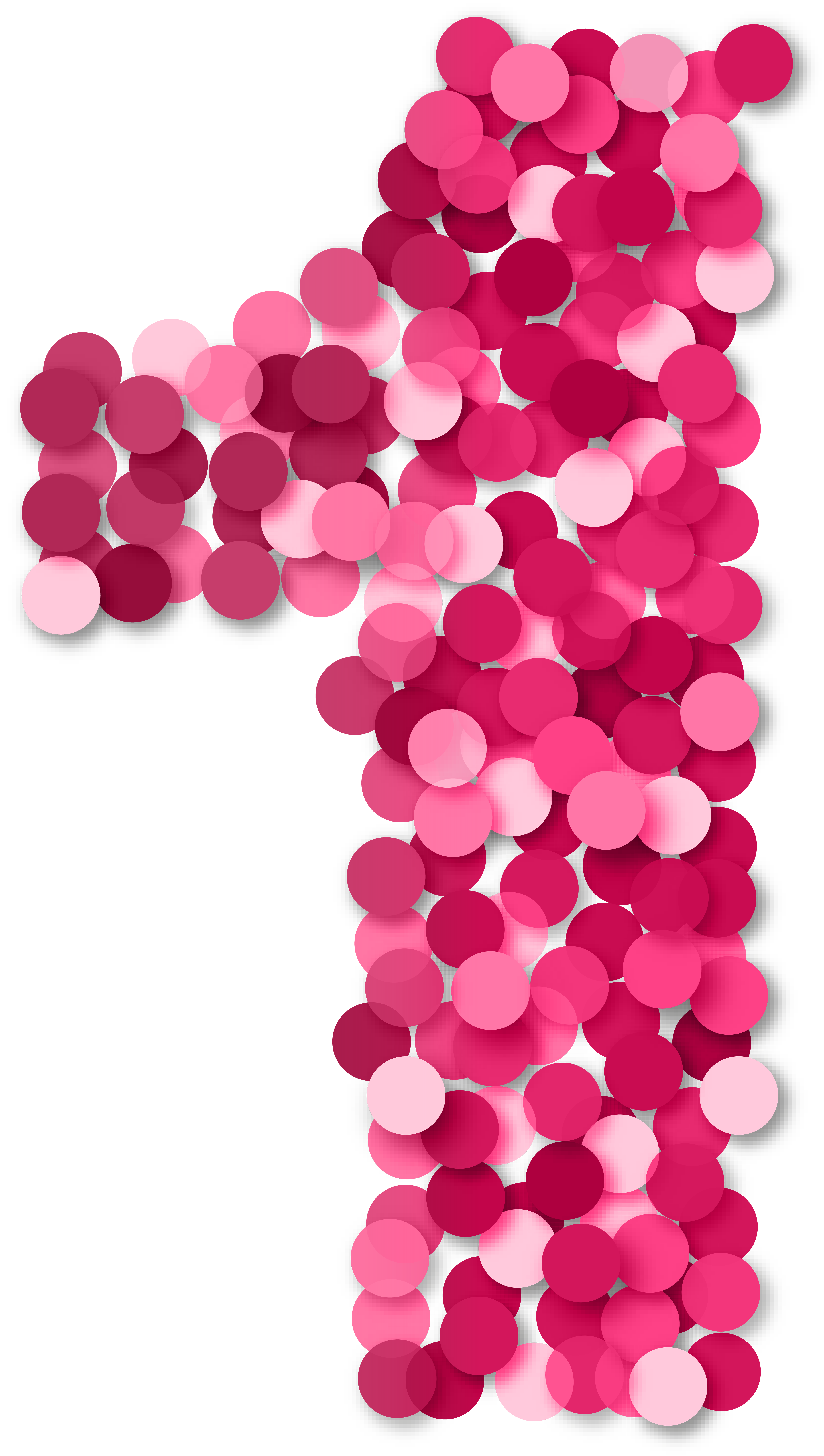 Clipart 1 pink clipart royalty free download One 1 Number Pink PNG Clip Art | Gallery Yopriceville - High ... clipart royalty free download