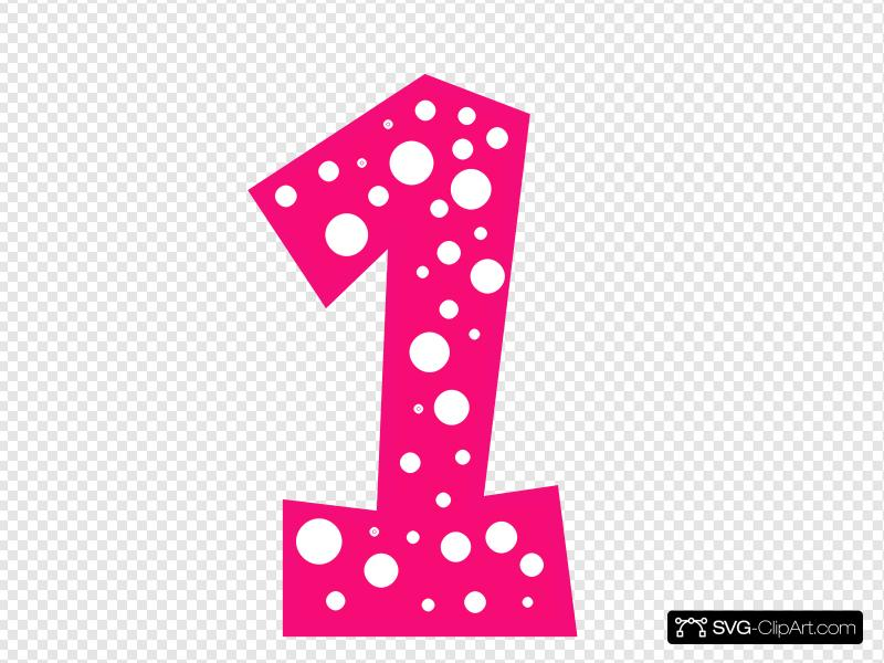Number 1 icon clipart clip art library library Number 1 Pink And White Polkadot Clip art, Icon and SVG - SVG Clipart clip art library library