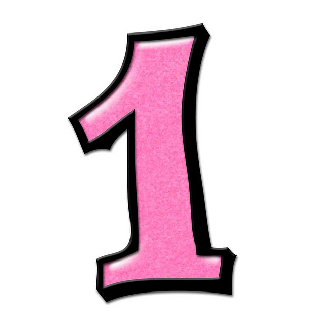 Clipart 1 pink image transparent download Free Number 1, Download Free Clip Art, Free Clip Art on Clipart Library image transparent download