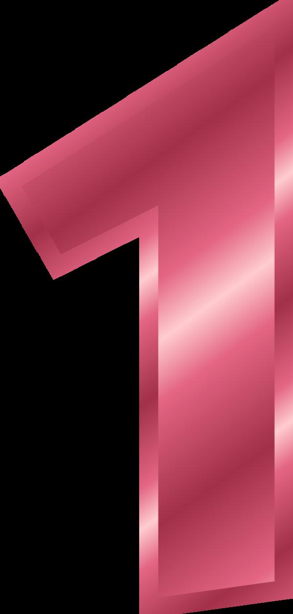 Clipart 1 pink clip art freeuse download Pink Number 1 Clipart - Number 1 Pink Color , Transparent Cartoon ... clip art freeuse download