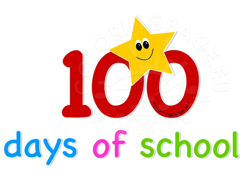 Clipart 100 svg transparent library 100 days of school clipart | Coloring Page svg transparent library
