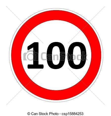 Clipart 100 clipart library download Stock Illustrations of 100 speed limit sign - 100 speed limitation ... clipart library download