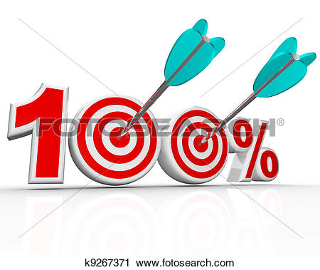 Clipart 100 svg freeuse Clipart of 100 Percent Arrows in Targets Perfect Score k9267371 ... svg freeuse