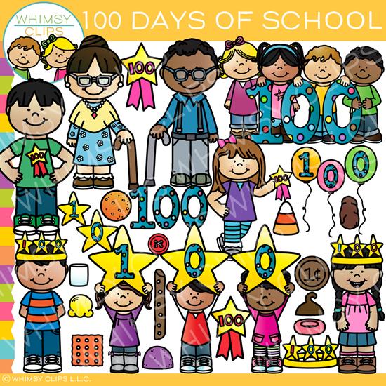 Clipart 100 days jpg free stock One Hundred Days of School Clip Art jpg free stock