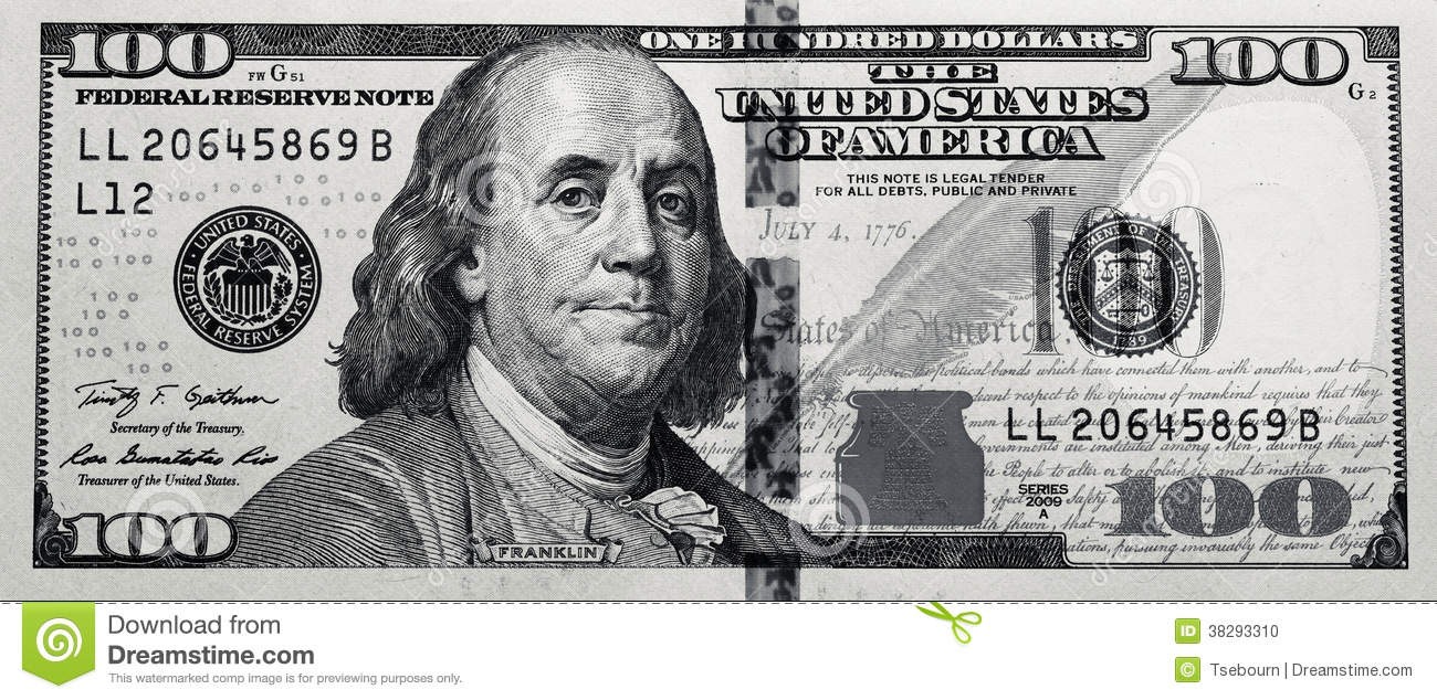 Clipart 100 dollar bill banner black and white download Money clipart black and white dollar bill one hundred - ClipartFest banner black and white download