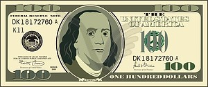 Clipart 100 dollar bill black and white Us dollar clipart - ClipartFest black and white