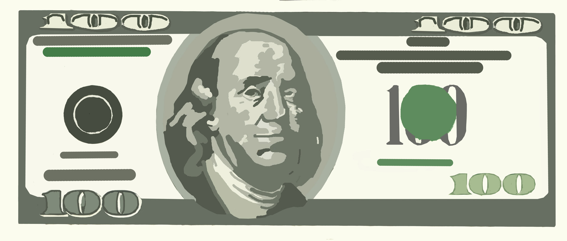 Clipart 100 dollar bill clipart black and white $100 bill clipart - ClipartFest clipart black and white