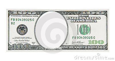 Clipart 100 dollar bill svg black and white library 100 Dollar Bill Front No Face Royalty Free Stock Photography ... svg black and white library