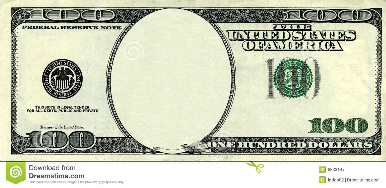 Clipart 100 dollar bill.  clipartfest blank clip