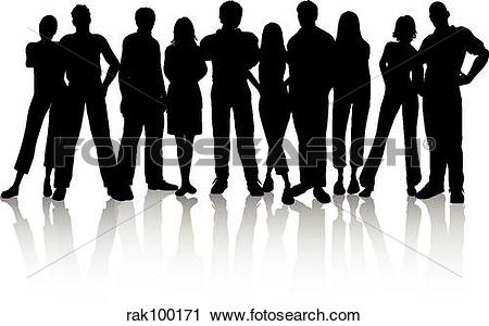 Clipart 100 people graphic free download Clipart of crowd of people rak100171 - Search Clip Art ... graphic free download