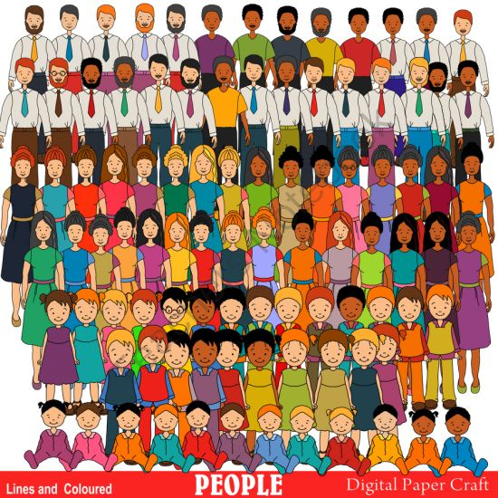 Clipart 100 people jpg download Clipart Multicultural People Over 100 Clipart from Digital ... jpg download