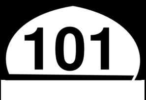 Clipart 101 clip art free stock Freeway Sign 101 Clip Art at Clker.com - vector clip art online ... clip art free stock