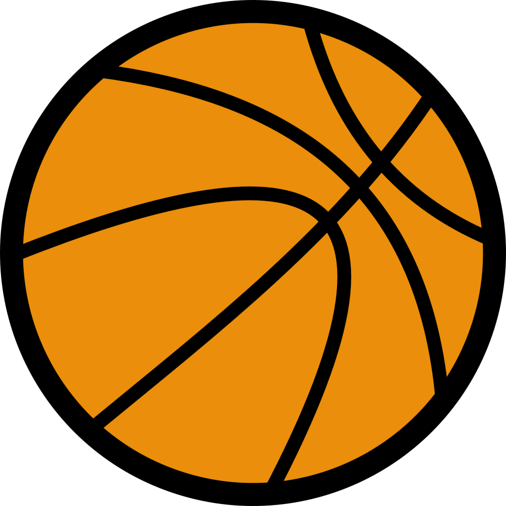 Basketball heart clipart
