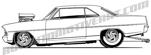 Clipart 1967 banner royalty free download Drag Race 1967 with Scoop Side View - JPEG - VALUE IMAGE - $10.00 banner royalty free download