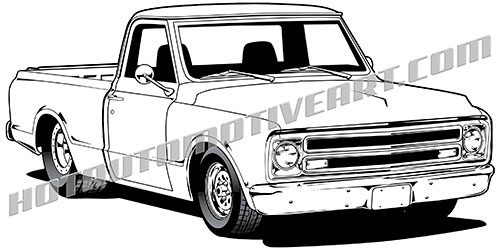Clipart 1967 picture freeuse 1967 Pickup Truck - VECTOR picture freeuse
