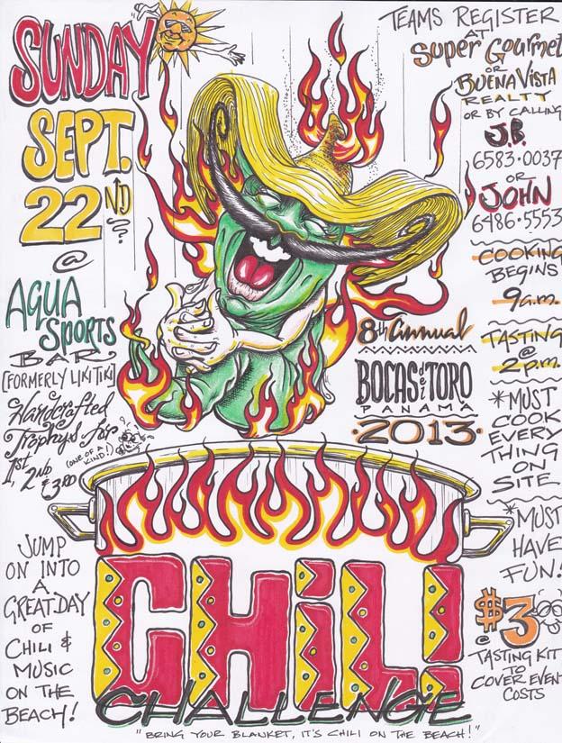 Clipart 1st annual chili cook off color graphic library Chili Cook Off - Bocas del Toro\'s Newspaper graphic library
