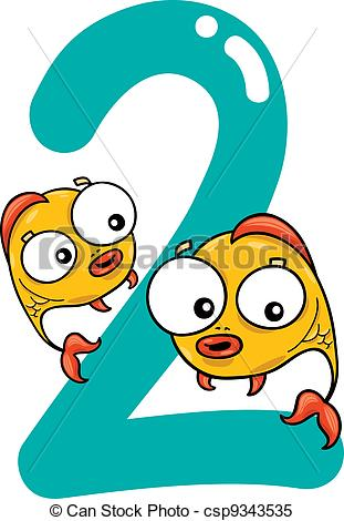 Two fish illustrations and. Clipart 2