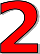Clipart 2. Red number clipartfest numbers