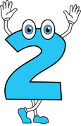 Clipart 2. Number for kids clipartfest
