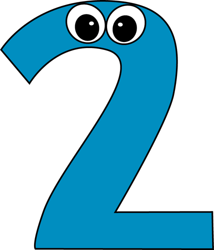 Clipart 2. Number panda free images