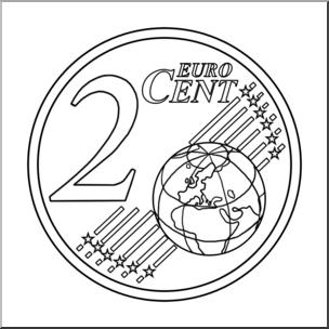 Clipart 2 cents picture Clip Art: Euro 2 Cent B&W I abcteach.com | abcteach picture