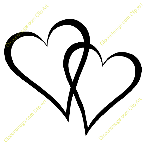 Two panda free images. Clipart 2 hearts