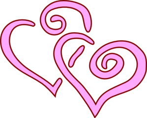 Clipart 2 hearts black and white stock 2 Hearts Clip Art - ClipArt Best black and white stock