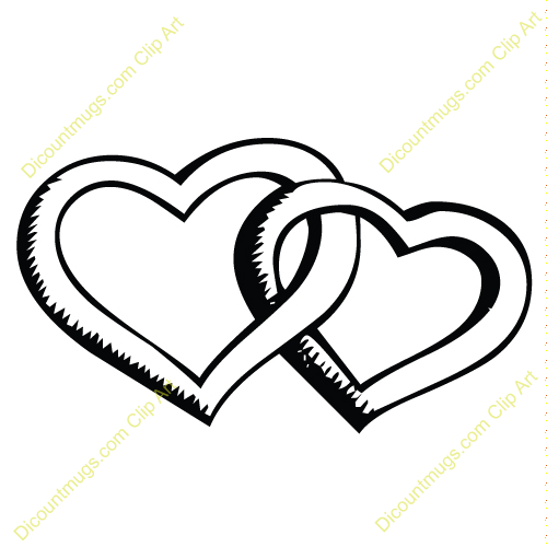 Clipart 2 hearts image transparent Two hearts intertwined clipart - ClipartFest image transparent
