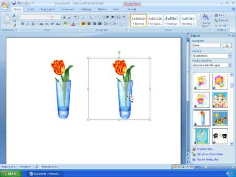Clipart 2007 image freeuse stock Word 2007 Tutorial 11 - Working With ClipArt image freeuse stock