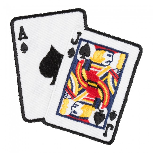 Clipart 21 blackjack hand clip royalty free stock Blackjack 21 Card Hand Patch, Playing Cards Patches clip royalty free stock