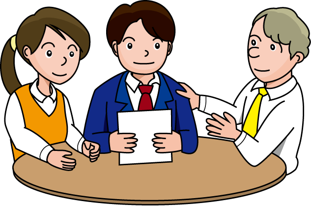 Clipart 3 people meeting